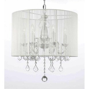 Plug in chandeliers wayfair luca 6 light chandelier aloadofball Images
