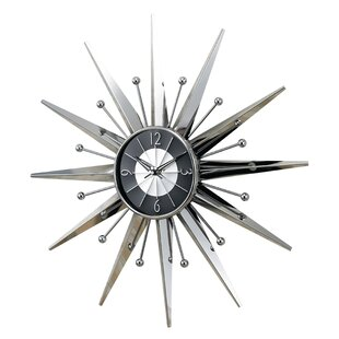 Oversized 23 5 Telechron Starburst Wall Clock