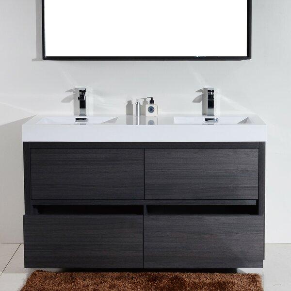 Tenafly 60 Quot Double Free Standing Modern Bathroom Vanity