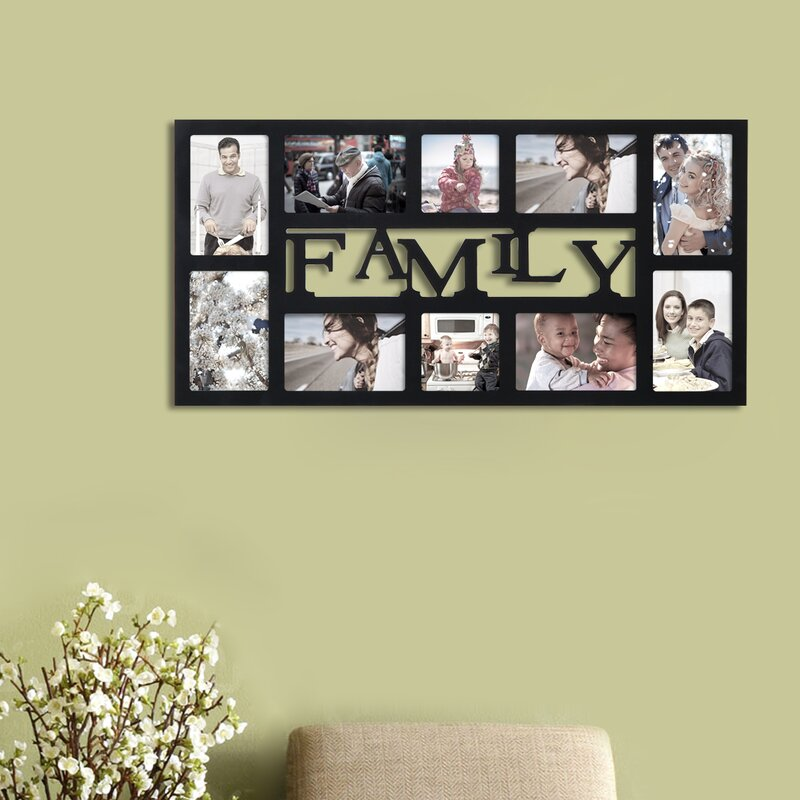 Homebeez Family 10 Slot Picture Frame | Wayfair
