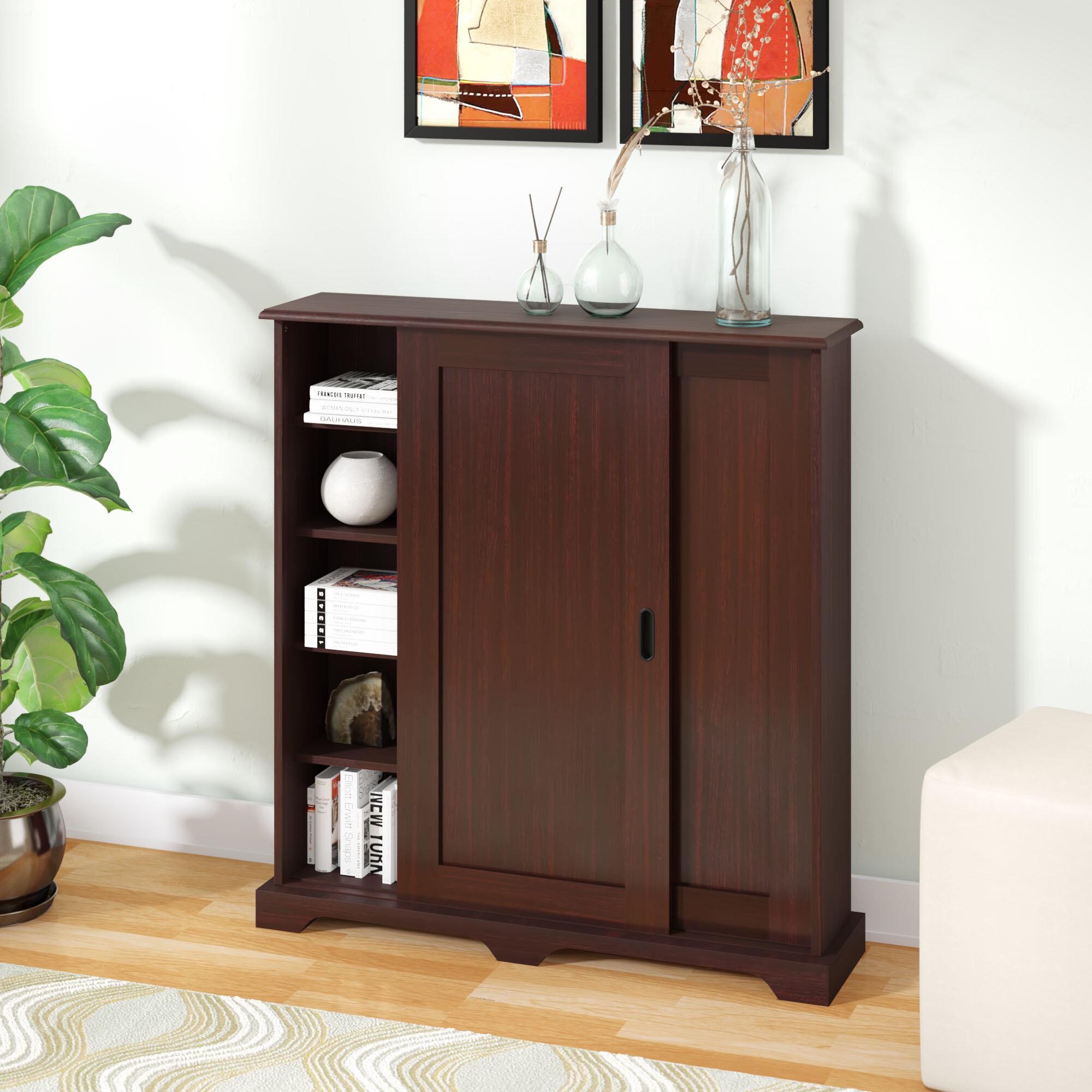 wine decoration burley wayfair floor bottle home mills wood furniture tall andover cabinet media reviews gallery reg
