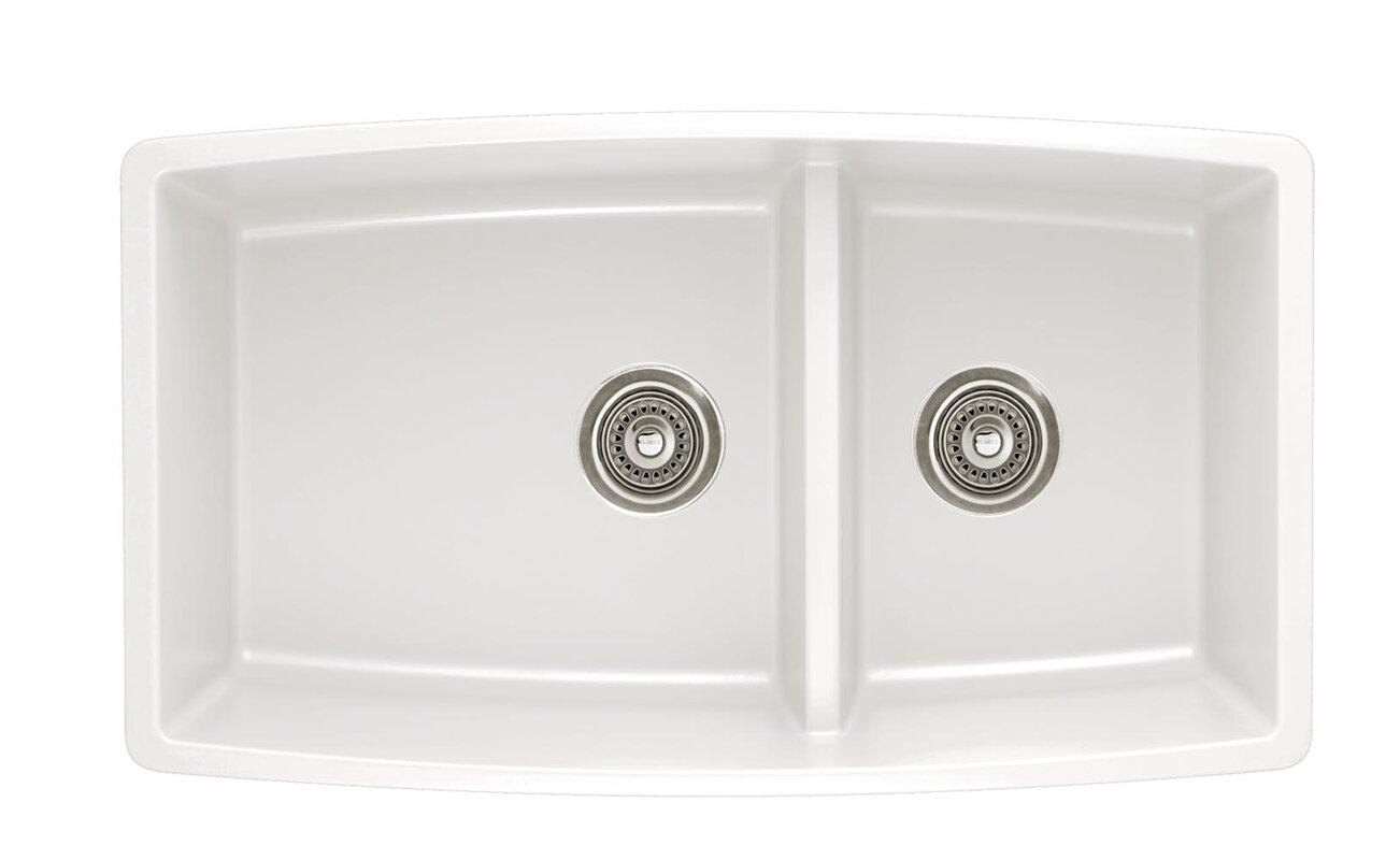 """Kitchen Sink 19 X 33: Blanco Performa 33"""" X 19"""" 2 Basin Undermount Kitchen Sink"""