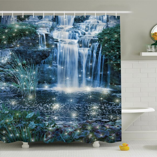 Ambesonne Waterfall Magic Fairy Cascade Shower Curtain Set