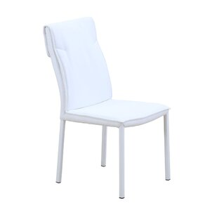 Ira Sydney Genuine Leather Upholstered Dining Chair (Set of 2) by Orren Ellis