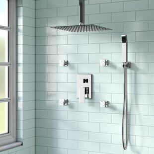 Cahoon Shower System W 12 Rain 4 Body Jets And Handheld