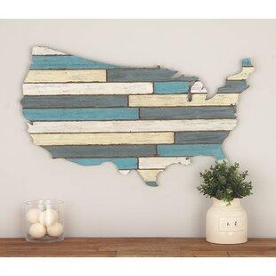 Wooden Usa Map   Wayfair