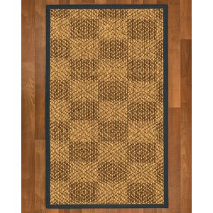 Hearne Hand Woven Brown Area Rug