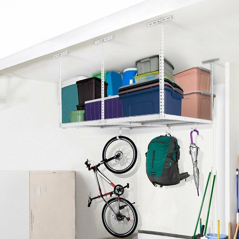 Overhead Garage Storage Adjule Ceiling Rack