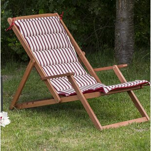 Arnd Folding Deck Chair with Cushion by Lynton Garden