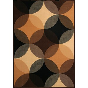 Armani Black/Brown Indoor/Outdoor Area Rug