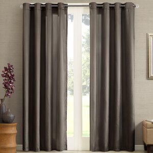 Garcia Striped Room Darkening Grommet Single Curtain Panel
