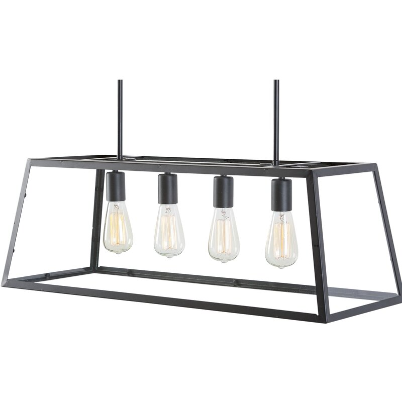Light Society 4-Light Kitchen Island Pendant & Reviews | Wayfair on