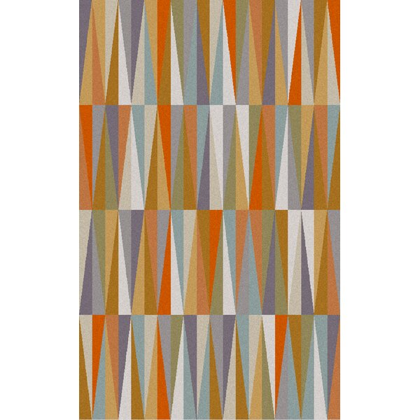 Bathroom Mirrors Vaughan varick gallery vaughan orange area rug & reviews | wayfair