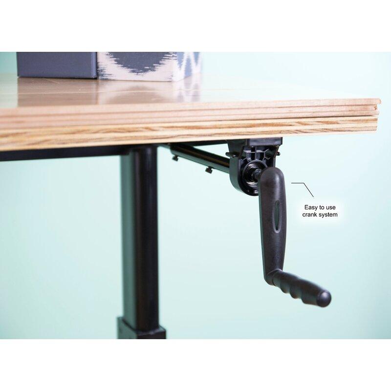 Vivo Manual Crank Stand Up Frame System Standing Desk Reviews