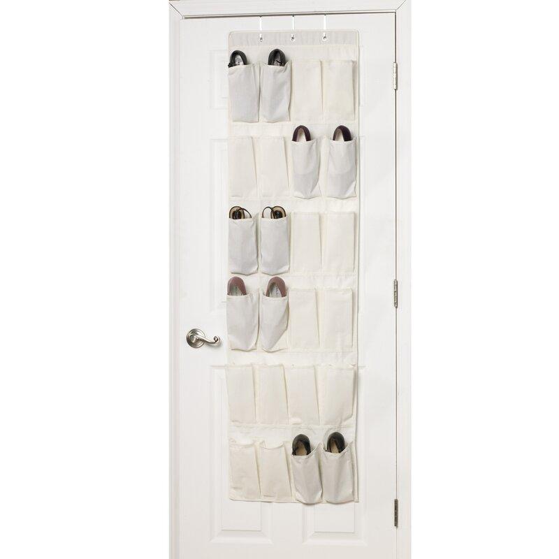 24 Pocket 24 Pair Overdoor Shoe Organizer