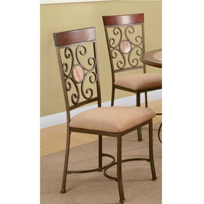 Glade Intriguing Upholstered Dining Chair Fleur De Lis Living