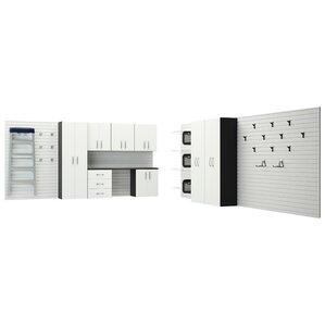 28u0027 H X 6u0027 W 1.5u0027 D 12 Piece Garage Cabinet System