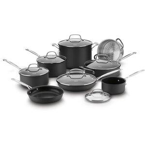 14 Piece Chefs Classic Hard Anodized Non-Stick Cookware Set