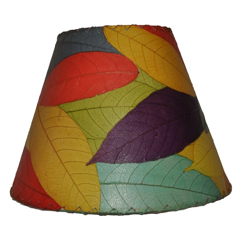 Eangee home design 16 cocoa leaf empire lamp shade reviews wayfair 16 cocoa leaf empire lamp shade aloadofball Choice Image