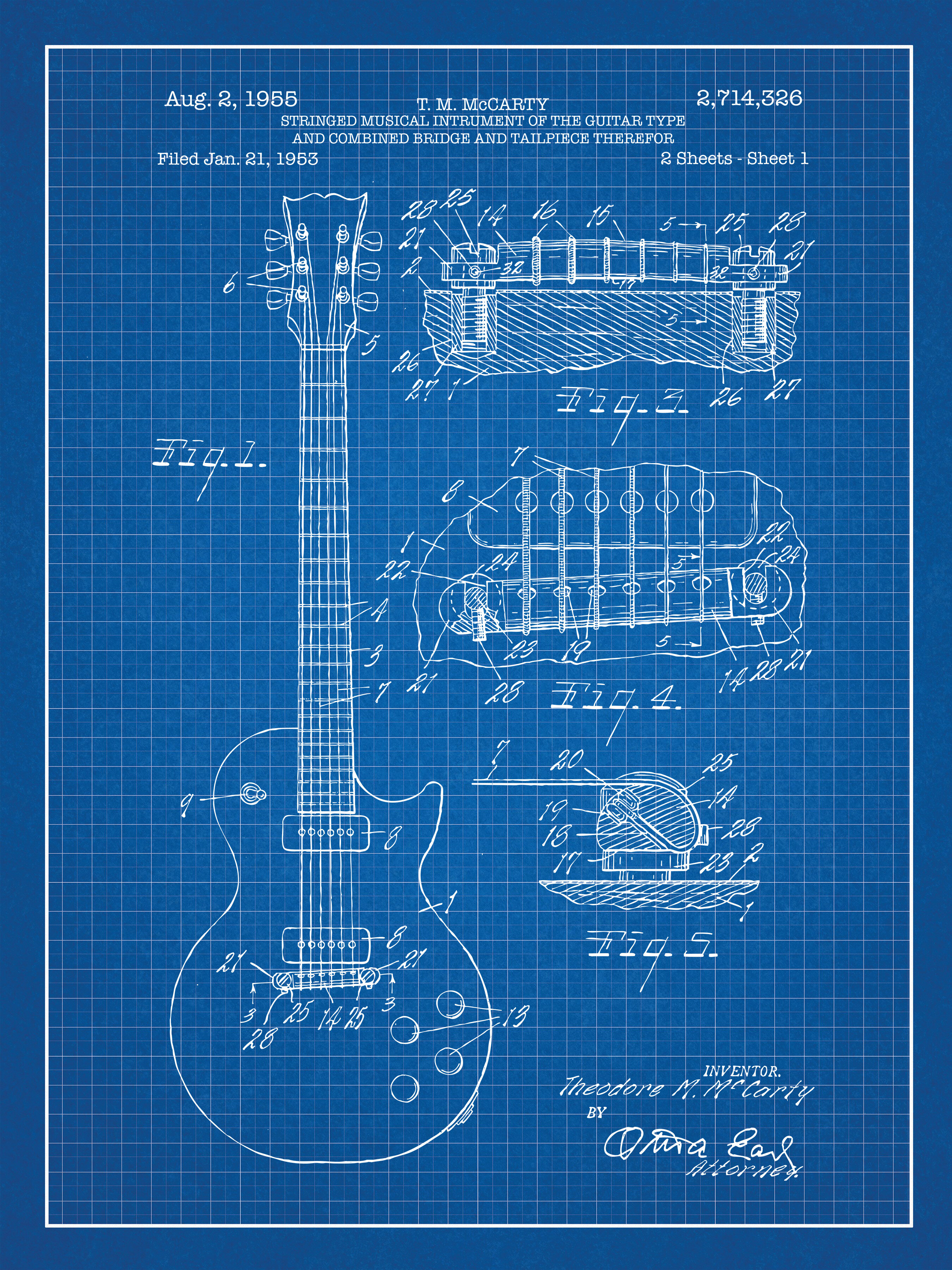 Williston forge gibson les paul guitar blueprint graphic art in williston forge gibson les paul guitar blueprint graphic art in blue gridwhite ink reviews wayfair malvernweather Image collections