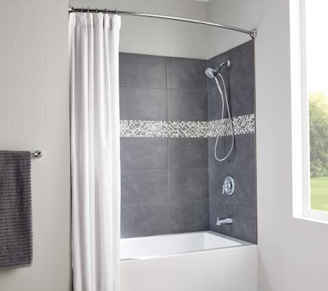 Moen Moen 174 Decorative 72 Quot Adjustable Curved Fixed Shower