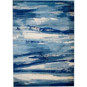 sawyer seascape navy blue area rug