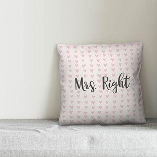 Mrs Always Right Pillow | Wayfair