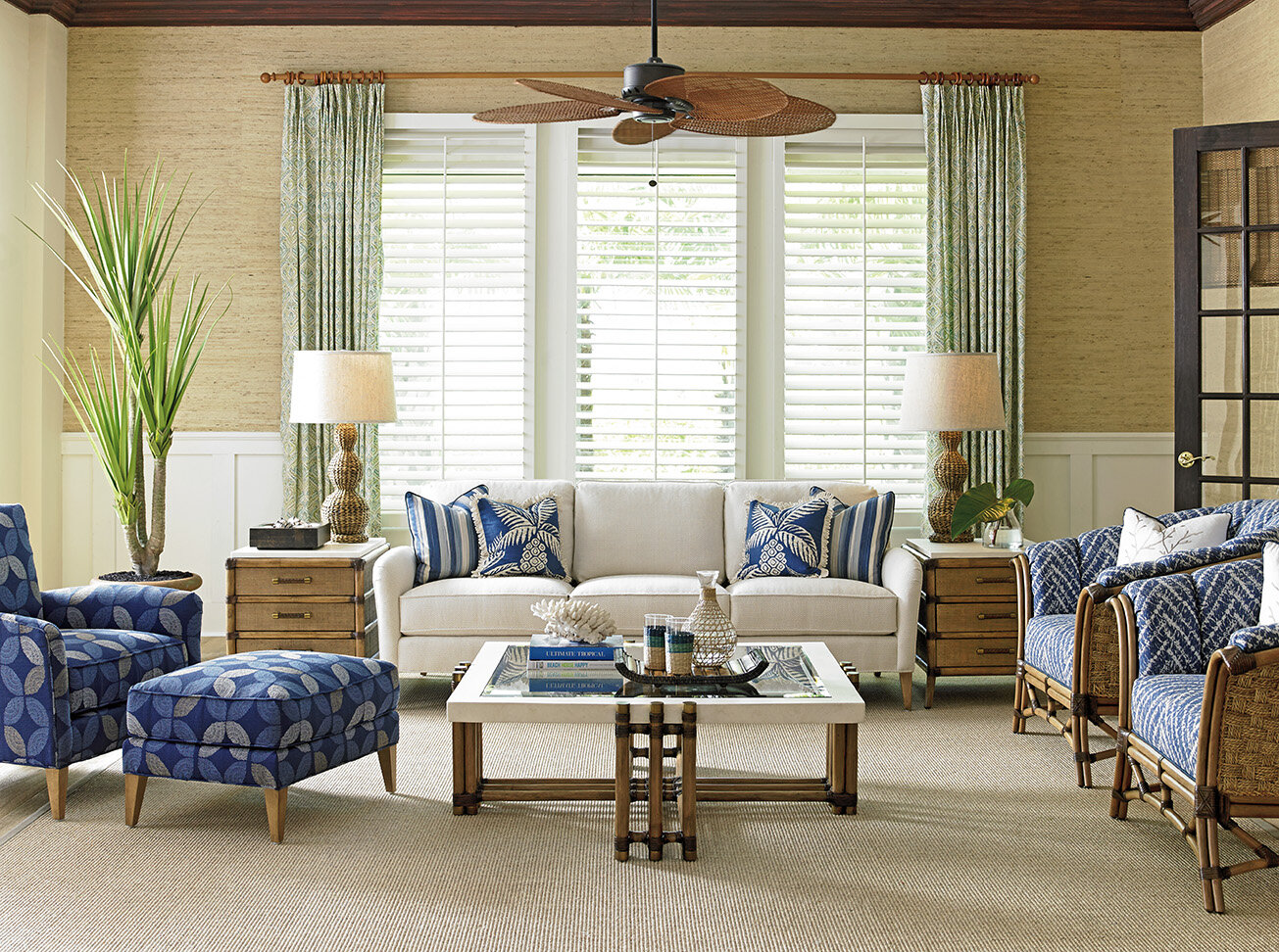 Tommy Bahama Home Twin Palms Configurable Living Room Set | Wayfair