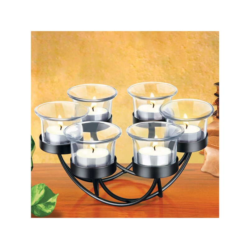 KoleImports Decorative Circular Candle Holder Set & Reviews | Wayfair