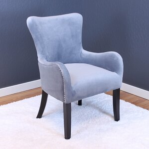 kaat velvet wing back chair