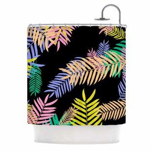 U0027Tropical Palm 90Su0027 Art Deco Shower Curtain