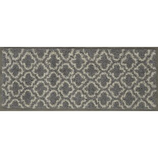 Affordable Shebeen Floral Gray/White Indoor/Outdoor Area Rug By Charlton Home