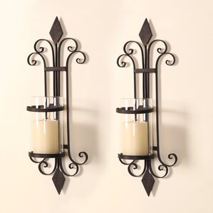 Traditional Iron Wall Sconce Candle Holder (Set Of 2) Part 54