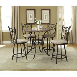 5 Piece Pub Table Set by Hazelwood Home