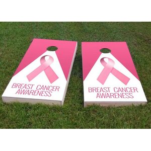 Breast Cancer Awareness Cornhole Game (Set of 2)