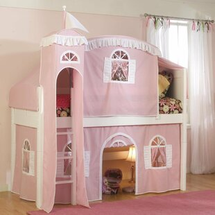 Quickview Low Loft Bed With Castle Tent