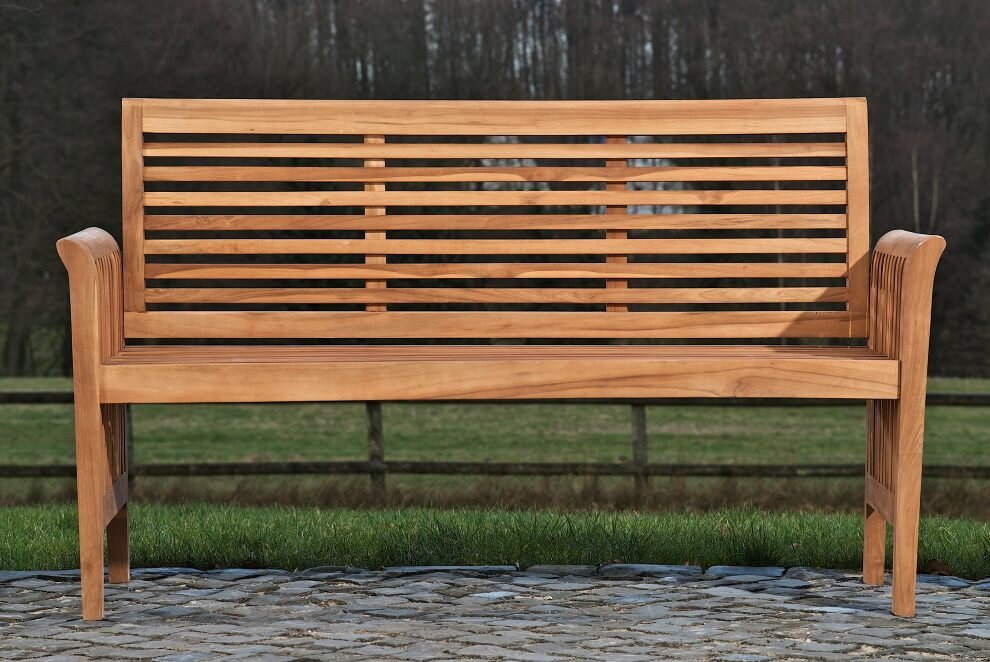 Home & Haus Gartenbank Erne aus Teak & Bewertungen | Wayfair.de