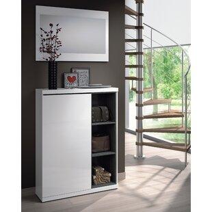 Lux Shoe Storage Cabinet with Mirror  sc 1 st  Wayfair & Shoe Cabinet With Mirror | Wayfair.co.uk