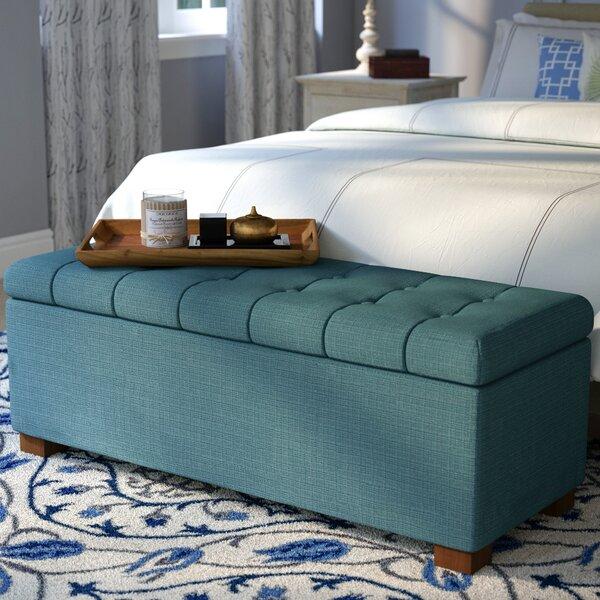 Modus Upholstered Milano Blanket Storage Bench White: Andover Mills Ravenwood Upholstered Storage Bench