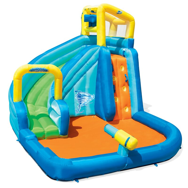 H2OGO! Hydrostorm Splash Zone Mega Water Park Inflatable Slide