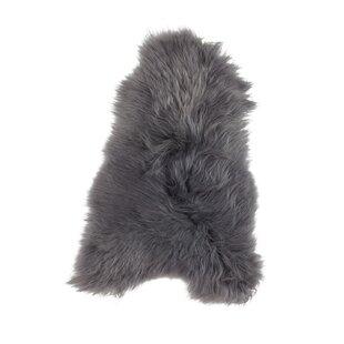 Icelandic Sheepskin Dark Grey Rug by Woooly®
