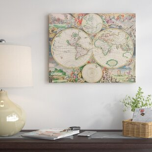 Vintage world map decor wayfair world map vintage by indigo sage graphic art gumiabroncs Image collections