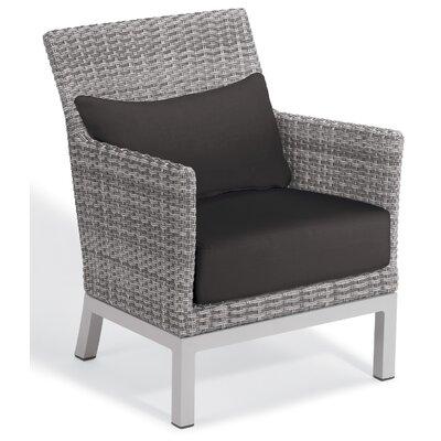 Brayden Studio Saleem Club Patio Chair with Cushions Color: Jet Black
