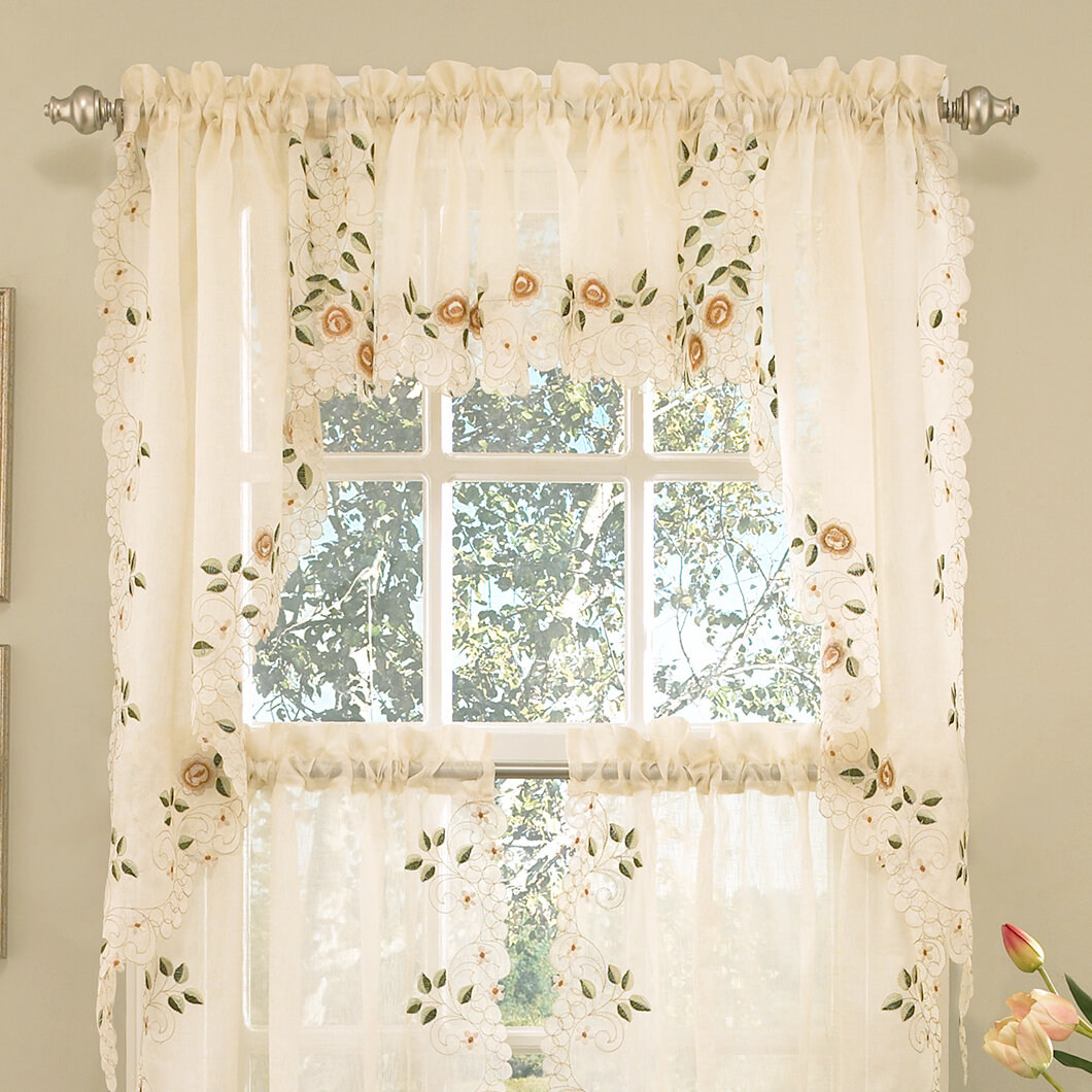 Sweet Home Collection Old World Style Floral Embroidered
