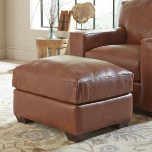 Birch Lane? Pratt Leather Ottoman