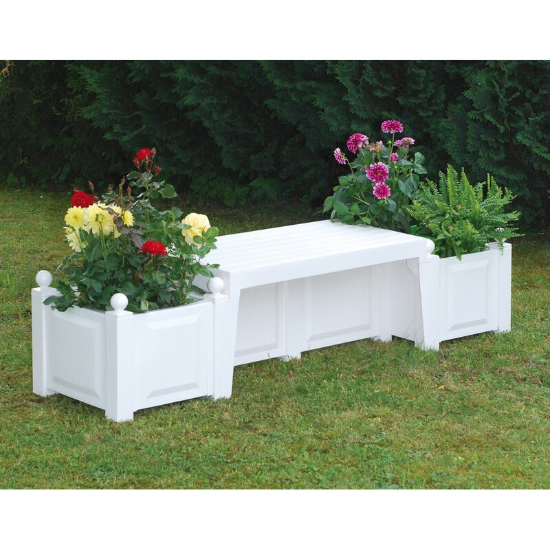 Khw Plastic Planter Bench Wayfair Co Uk