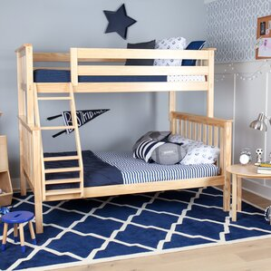 Solid Wood Twin Over Full Bunk Bed by Max & Lily