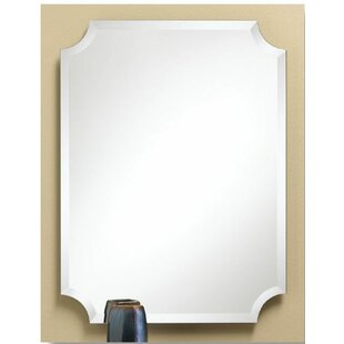 Eda Scalloped Corner Bathroom Vanity Mirror