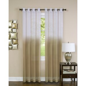 Darvone Essence Solid Sheer Grommet Single Curtain Panel