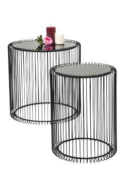 Kare design wire 2 piece nest of tables reviews wayfair wire 2 piece nest of tables greentooth Images